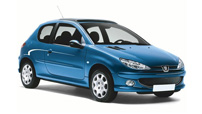 rent Peugeot 206 Air-conditionned for only 35 €